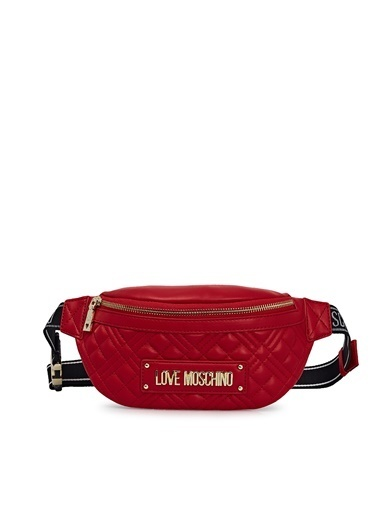 Love Moschino   Logo Baskılı Kapitone Çanta Kadın Çanta Jc4003Pp1Cla0500 Kırmızı